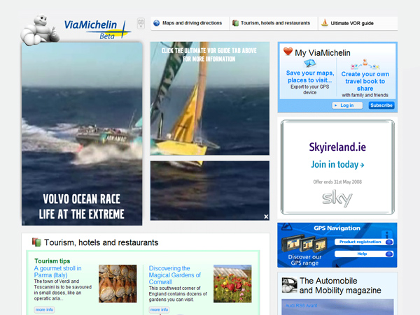 Volvo Ocean Race on Via Michelin